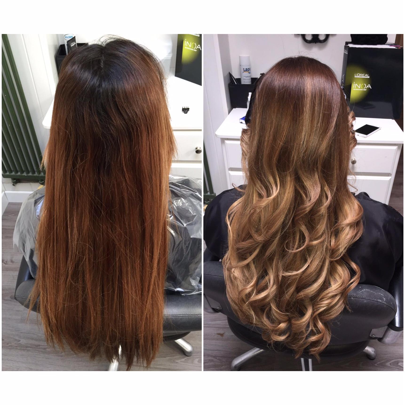 Le salon de naelle l 39 ombr hair ou tie and dye - Ombre hair brun caramel ...